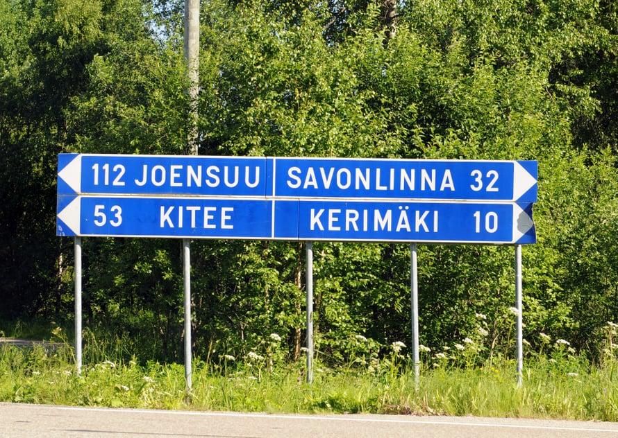 """""""Kaupunki idässä"""" kuuluu Joensuun kaupungin slogan."""