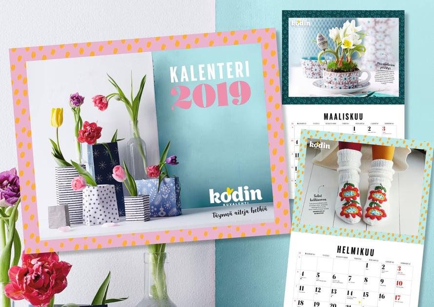 Kalenteri on kätevä ja kaunis katsella! Löydät joka kuukausi siitä lisäksi kivaa tekemistä.