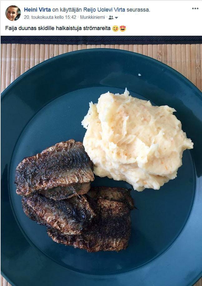 Heini laittaa sunnuntaisin Facebookiin kuvan syömästään ruuasta. Sitä tietävät odottaa sekä Heinin että Redin kaverit.
