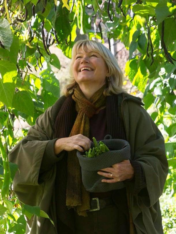 Syksyllä puutarhuri Anne Perheentuvan piha tulvii tuoksuja, värejä ja satoa. Matalat pensaspavut kasvavat papupergolan alaosissa. Salkopavut ja ruusupavut kiipeävät kaaren yläosiin, mistä niitä on helppo poimia.