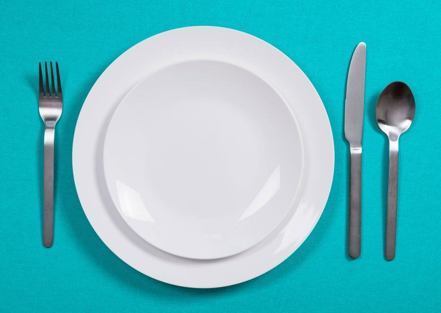 Syömisen saa lopettaa, vaikka lautanen ei olisi vielä tyhjä.