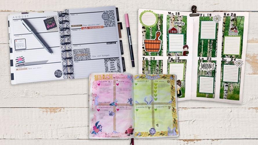 Kalenteriin voi purkaa luovuuttaan ja stressiään, sanovat paperikalenteriharrastajat.