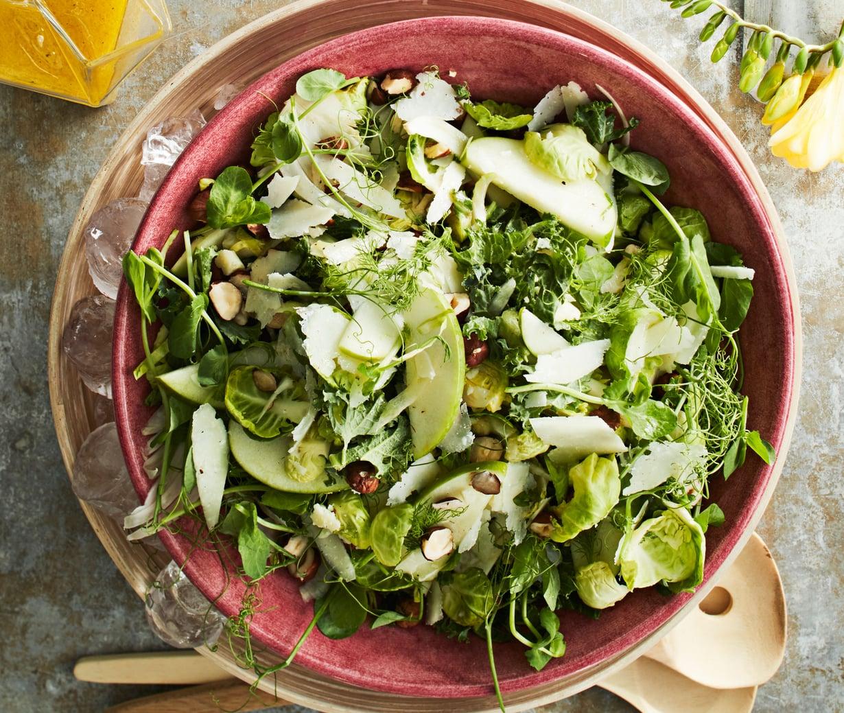 Herkullisin salaatti on rapsakka ja vihreä.