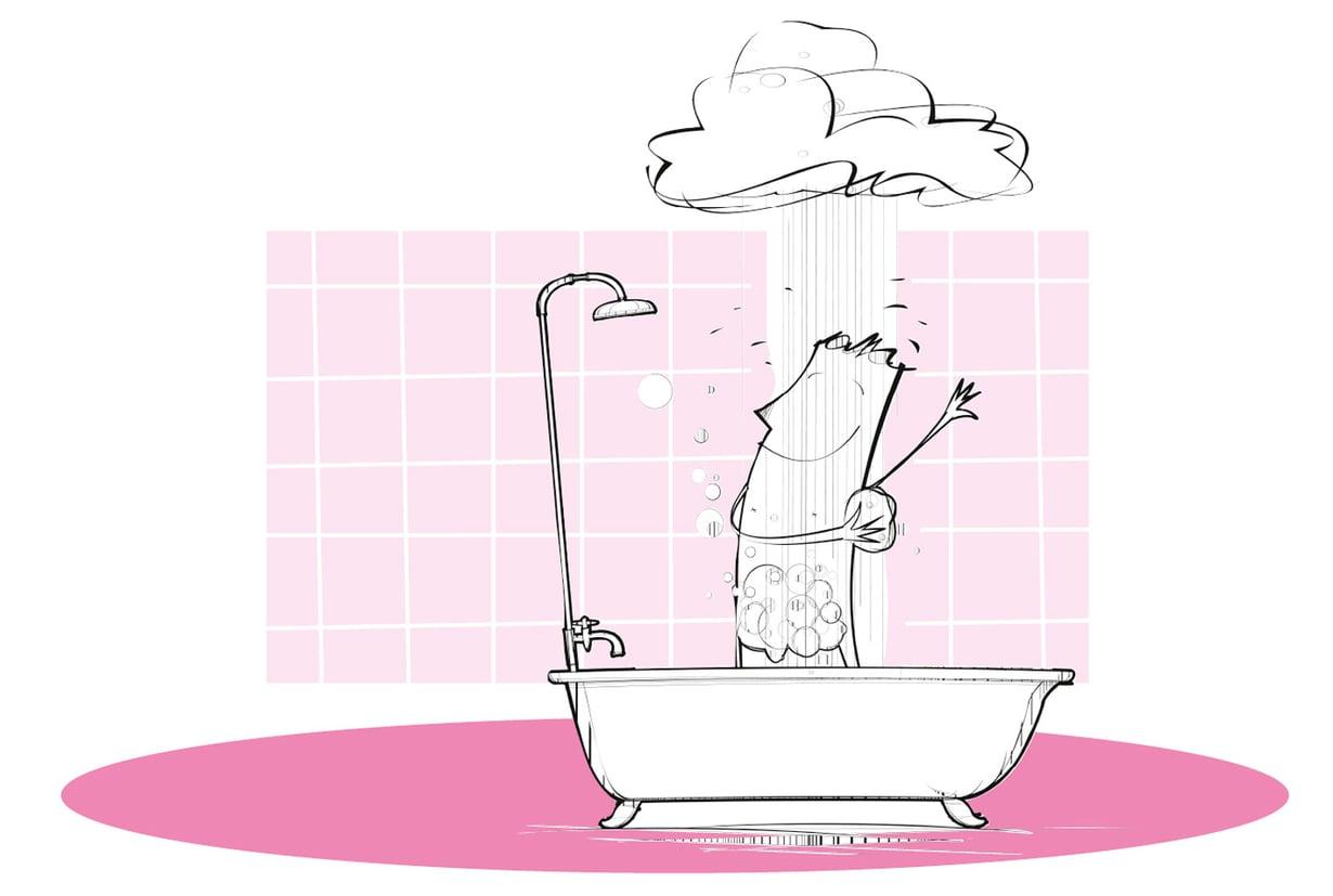 Loriseeko suihkussa muukin kuin vesi? No, säästöähän se vain on!