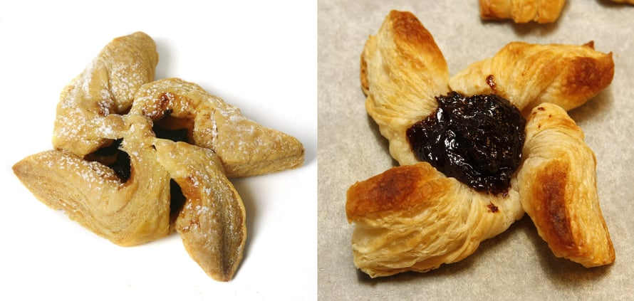 Luumuhillon (tai omenamarmeladin, suklaakonvehdin, suolaisen täytteen, vihreän kuulan tai mistä nyt pitääkin) voi laittaa joulutorttuun ainakin kahdella tapaa: sakaroiden alle tai päälle. Jotkut suosivat molempi parempi -tekniikkaa.
