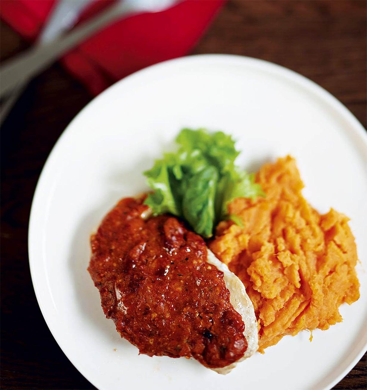 Bataatista survottu sose on mukavan makea lisuke vuohenjuustolle.