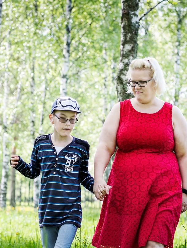 Lucas ja hänen äitinsä ovat molemmat käyneet pitkän taistelun.