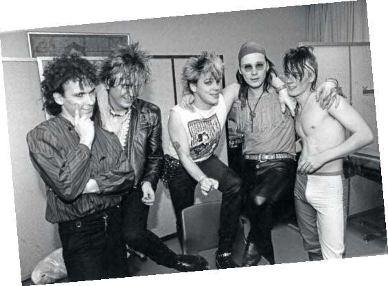 Pepe Laaksonen, Jonttu Virta, Neumann, Pete Nuotio ja Quuppa vuonna 1985.